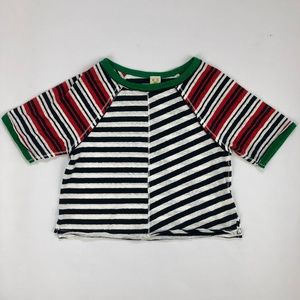 Free People Striped Raglan Sleeve Crop Top size XS